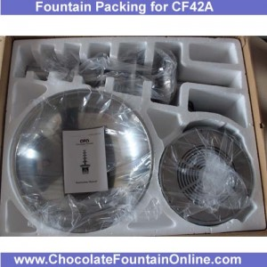 CF42A Large Size Commercial Chocolate Fountain package