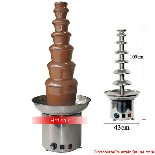 New 7 tiers Commercial chocolate fountain in Cheap Price
