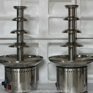 CF24A 4 tiers Small Commercial Chocolate Fountain made by Stainless Steel