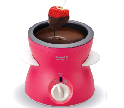 electric chocolate fondue pot