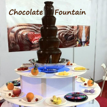 Decorate Chocolate Fountain with Fountain Surround Led Base