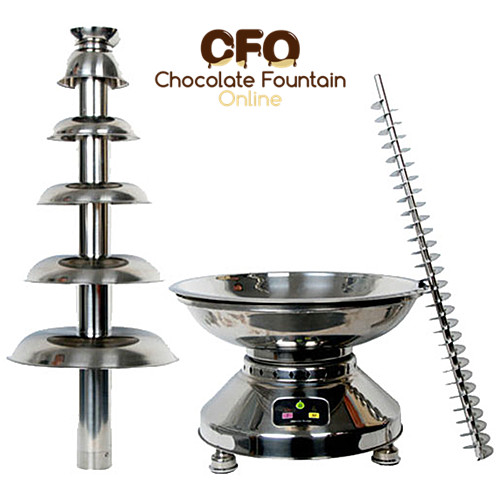 CF40A 100 cm 6 tiers commercial chocolate fountain machine for sale