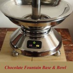 Stainless Steel Chocolate Fountain base & Bowl