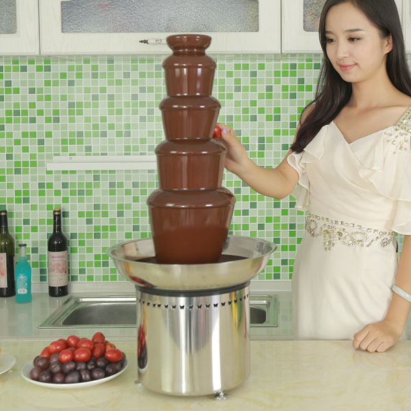 CF30A 5 tiers Commercial Chocolate Fountain for Rental business