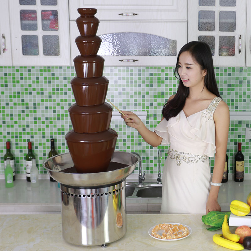 CF42A 7 tiers large Chocolate Fountain for commercial