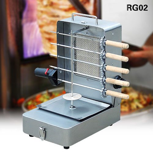 Single Burner Gas Doner kebab Shawarma Grill with Skewers RG02
