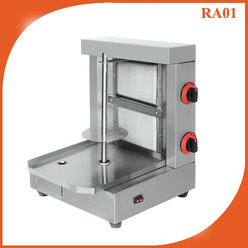 Two Burner Gas Gyros Grill Doner kebab Shawarma machine RA01