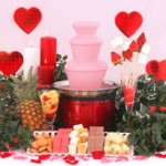 strawberries and cream fondue fountain